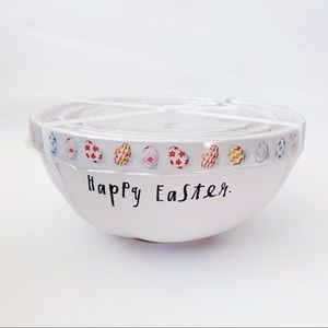 Rae Dunn HAPPY EASTER Mixing Bowl Set Spring Eggs